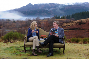 Knowledge Exchange in action: Jenni Steele (VisitScotland) and Professor Alan Riach promoting A Traveller's Guide to Literary Scotland.