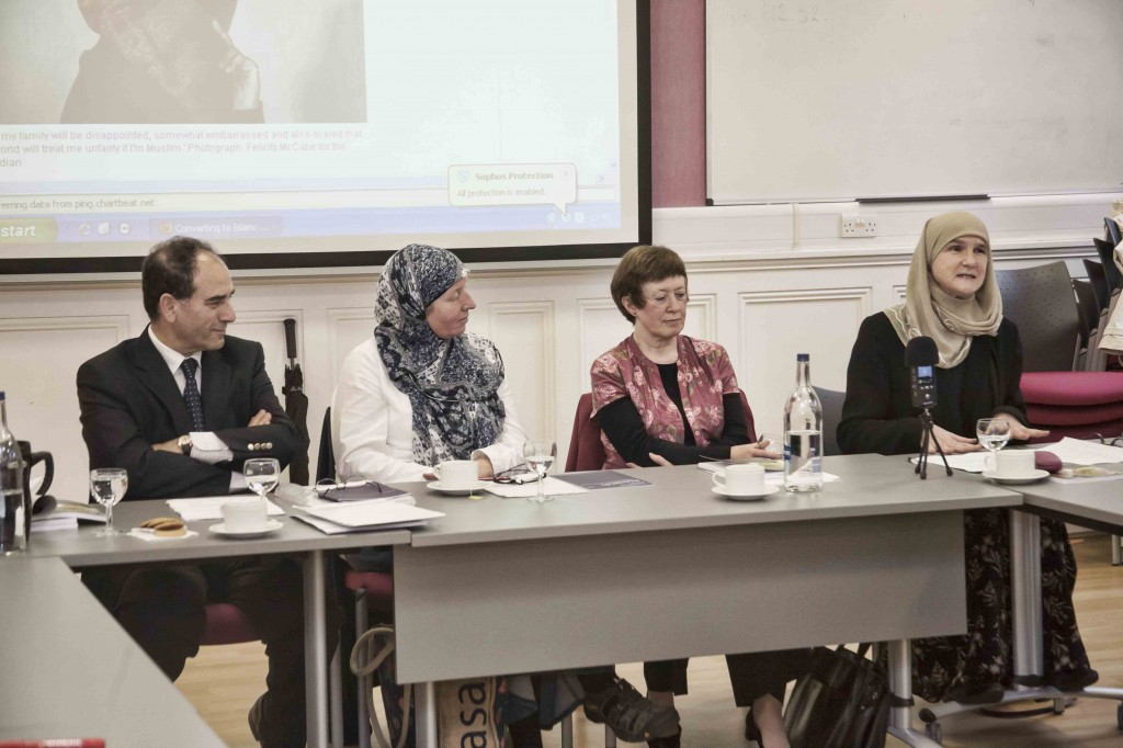 The speakers (L-R): Professor Yasir Suleiman, Erica Timoney, Marion Cobban, and Cllr Fariha Thomas.