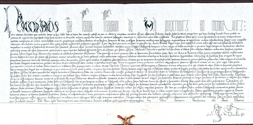 The Papal Bull issued by Pope Nicholas V 1451