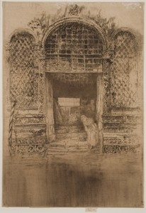 One of Whistler's etchings.