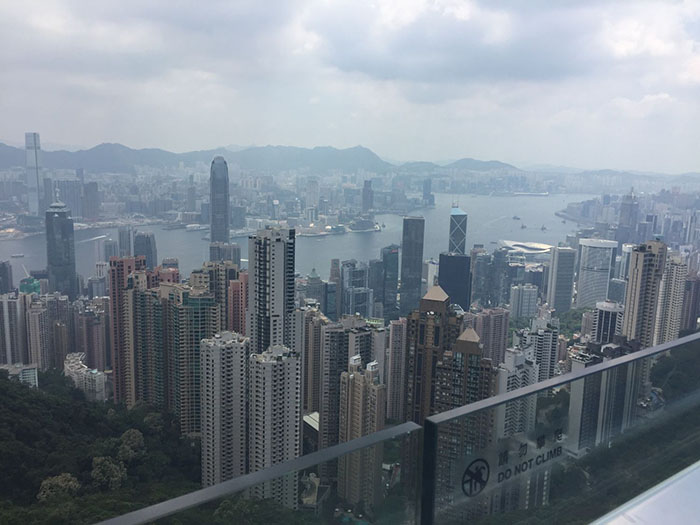 View of Hong Kong Island from the Peak