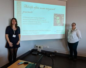 Natalie and Moira presenting their paper